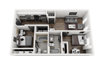 2x2 - FRISCO B Floor Plan Image