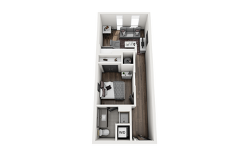 1x1 - KEYSTONE Floor Plan Image