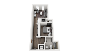 1x1 - STEAMBOAT A Floor Plan Image